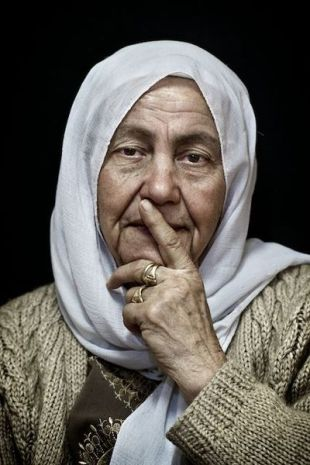 Mother of a Palestinian detainee.